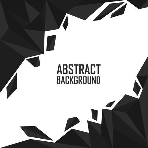 Abstracte zwarte veelhoek artistieke geometrische achtergrond vector
