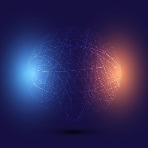 Abstracte wireframe wereld achtergrond vector