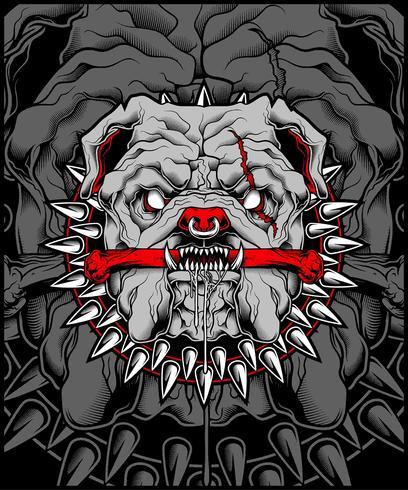 Gemiddelde Bulldog mascotte illustratie vector