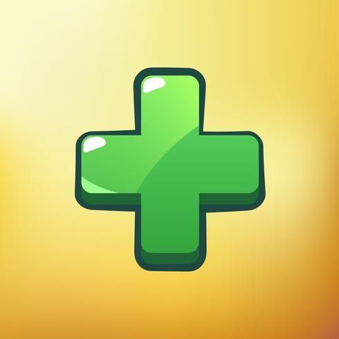 Cartoon Icon Plus Verschillende symbolen gebruiken GUI-elementen voor casual mobiele games vector