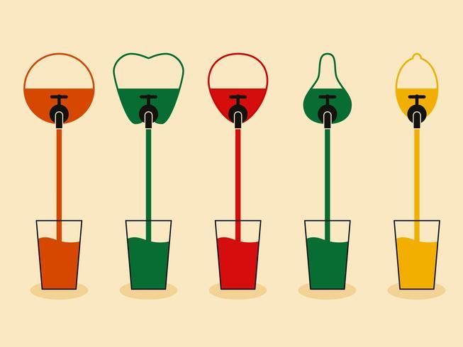 Vruchtensappen vector