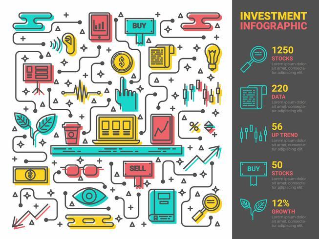 Investeringen Infographic vector