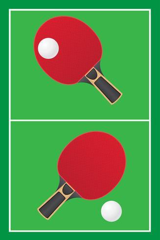 tafeltennis ping pong vector
