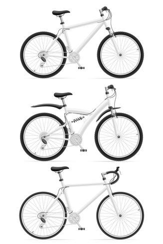 pictogrammen sport fietsen vectorillustratie instellen vector