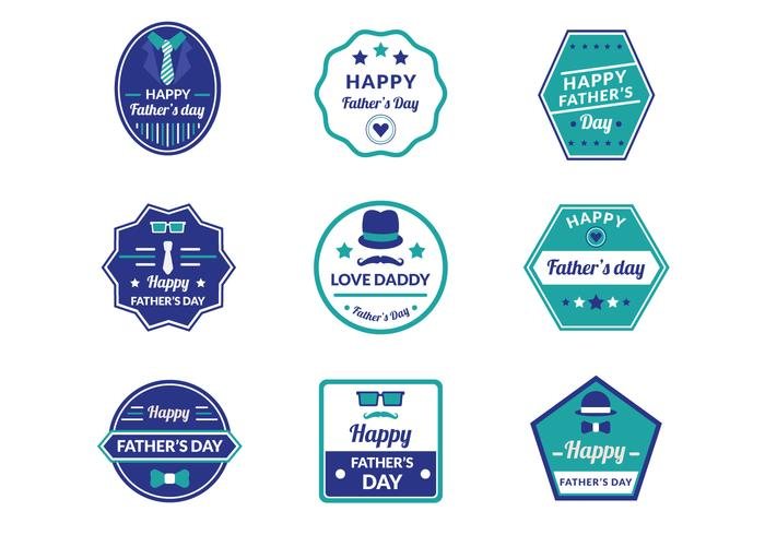 Father's Day-badges vector