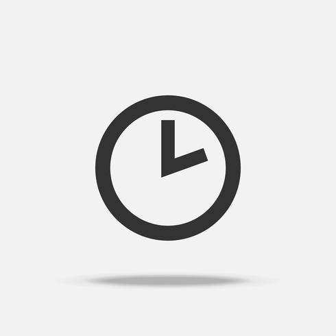 Tijd klokpictogram. Object en bedrijfsconcept. Teken en symboolthema. Eenvoudig en minimaal logo. vector