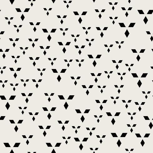 Naadloze patroonachtergrond. Modern abstract en Klassiek antiek concept. Geometrisch creatief ontwerp stijlvol thema. Illustratie vector. Zwart en witte kleur. Rechthoek Diamant vierkante vorm vector