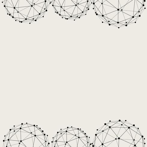 Naadloze patroonachtergrond. Modern abstract en Klassiek antiek concept. Geometrisch creatief ontwerp stijlvol thema. Illustratie vector. Zwart en witte kleur. Technologie verbindingslijn cirkelvorm vector