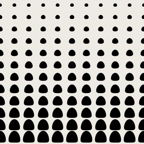 Naadloze patroonachtergrond. Modern abstract en Klassiek antiek concept. Geometrisch creatief ontwerp stijlvol thema. Illustratie vector. Zwart en witte kleur. Cirkelvormige halve toonvorm vector