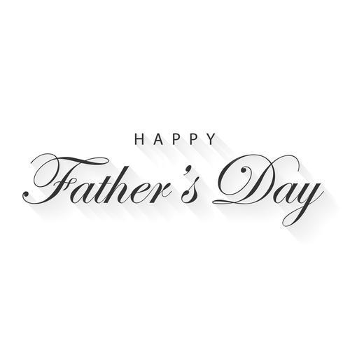 Happy Father's Day kalligrafie belettering voor wenskaart. Vakantie- en evenementconcept. Vector illustratie
