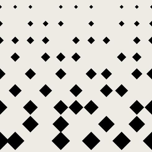 Naadloze patroonachtergrond. Modern abstract en Klassiek antiek concept. Geometrisch creatief ontwerp stijlvol thema. Illustratie vector. Zwart en witte kleur. Rechthoekige vierkante halftonige vorm vector