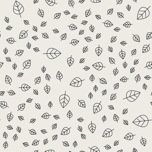 Naadloze patroonachtergrond. Abstract en klassiek concept. Geometrisch creatief ontwerp stijlvol thema. Illustratie vector. Zwart en witte kleur. Bladvorm voor natuur- en milieudag vector
