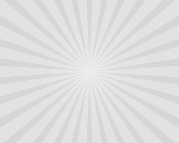 Witte en grijze zon burst illustratie vector achtergrond. Abstract en behang concept.