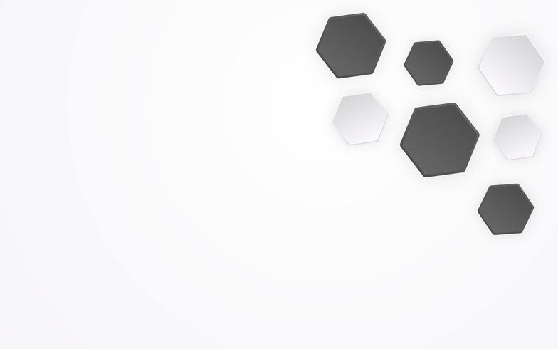 Abstracte veelhoek zoals 3D voetbal patroon achtergrond. Geometrische vorm en creatief grafisch ontwerpconcept. Hexagon achtergrondmalplaatje voor presentatiethema met exemplaar ruimte vectorillustratie vector