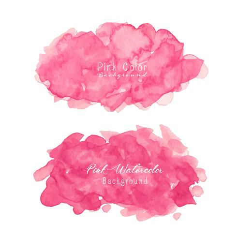 Roze abstracte waterverfachtergrond. Aquarel element voor kaart. Vector illustratie.