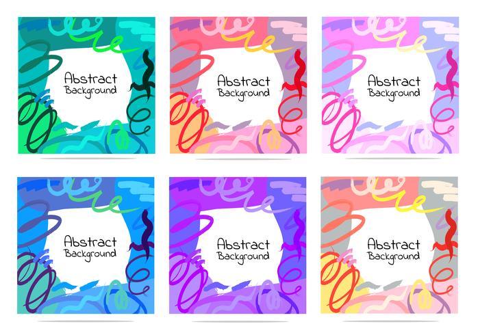 Artistieke creatieve kaarten met penseelstreken, abstracte penseelstreek achtergrond, vectorillustratie. vector