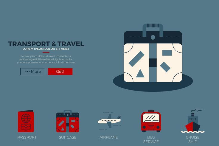Reissjabloon voor websites vector