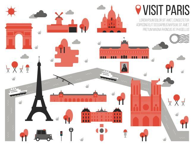Bezoek Parijs vector