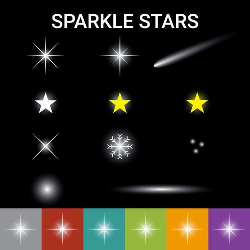 Sparkle sterren effect vector