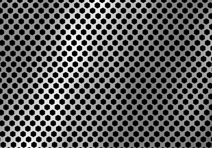 Abstracte zilveren metaalachtergrond die van hexagon patroontextuur wordt gemaakt. vector