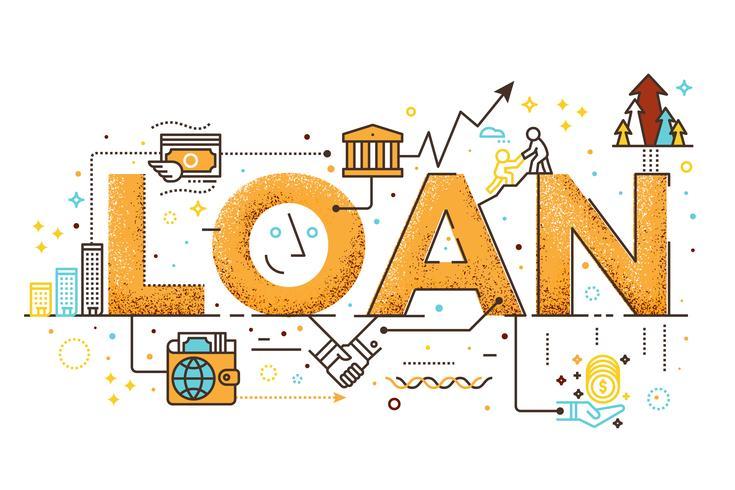 Persoonlijke lening illustratie vector