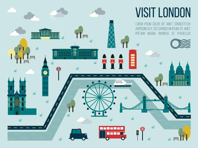 Bezoek Londen vector