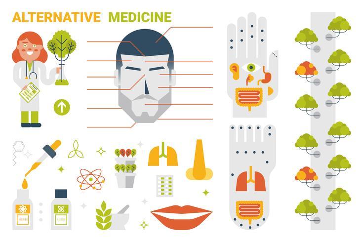 Alternatieve geneeskunde Concept vector
