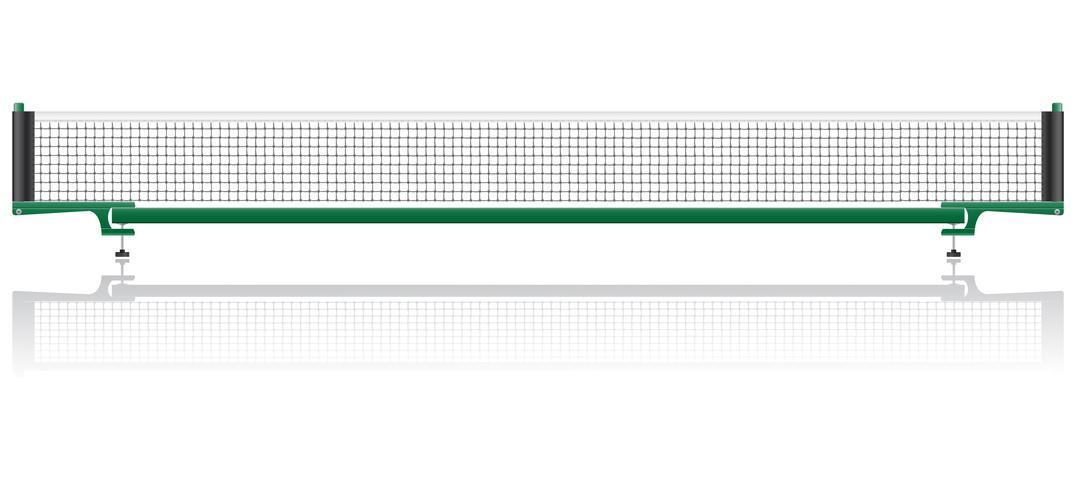 net voor de vectorillustratie van de pingpongpingpong vector