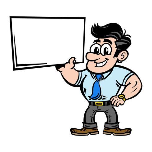 Zakenman in pak hoofd vector pictogram