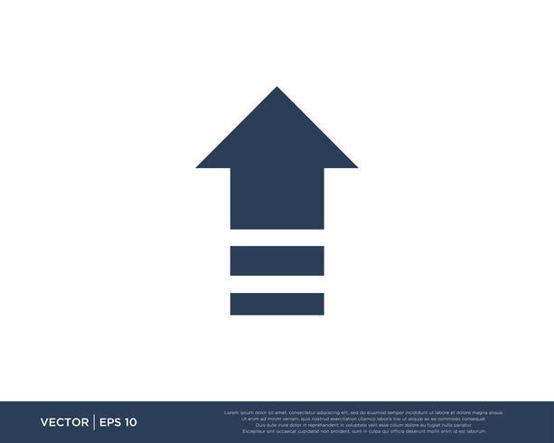 Pijl pictogram Vector sjabloon symbool