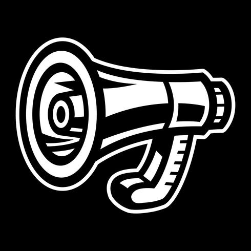 Megafoon Luidspreker Bullhorn Aankondigingswaarschuwing vector