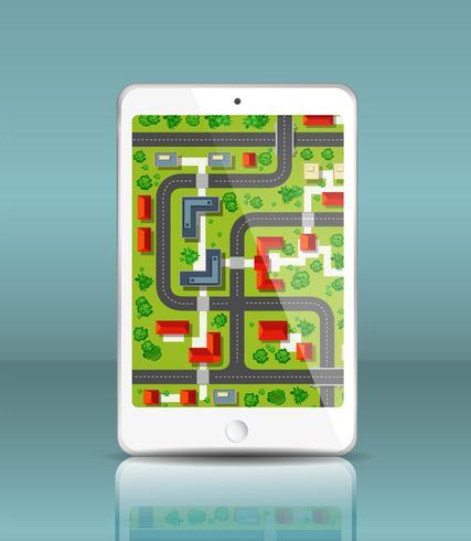 Mobiele navigatie vector