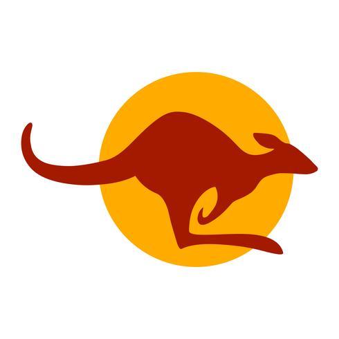 Kangaroo dierlijke silhouetillustratie vector