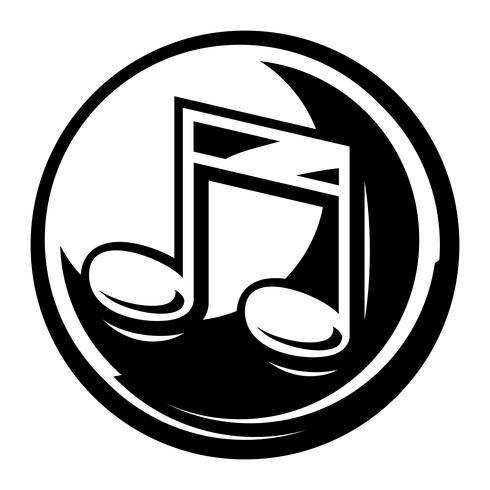 Muziek merkt vector pictogram