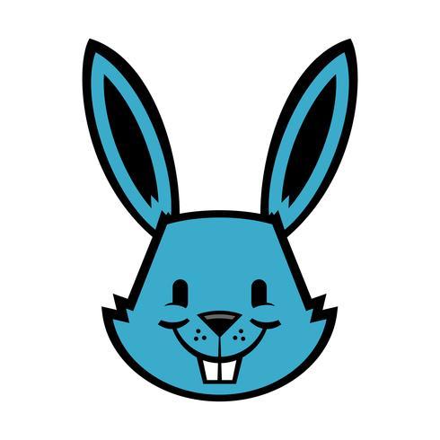 Cartoon konijn grafische vector