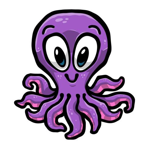 Cartoon Leuke Octopus illustratie vector