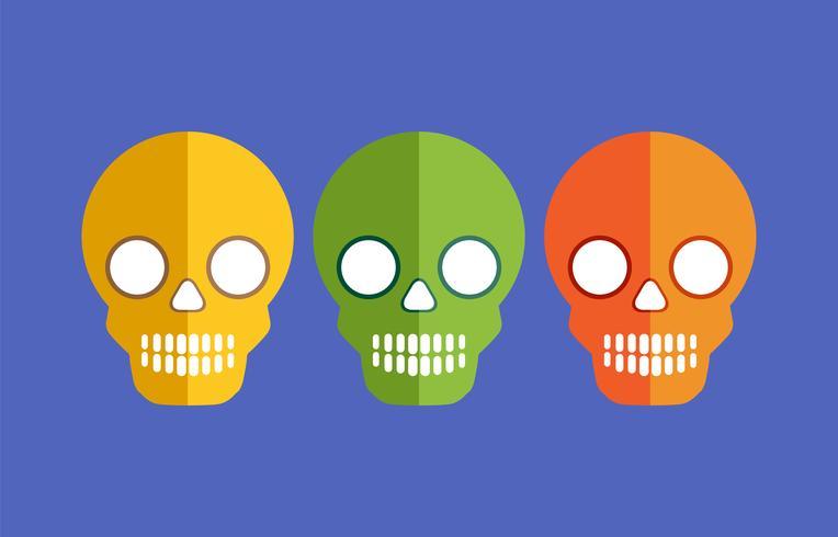 Schedels voor Halloween vector