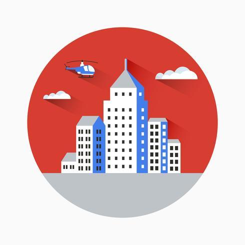Platte stad vector