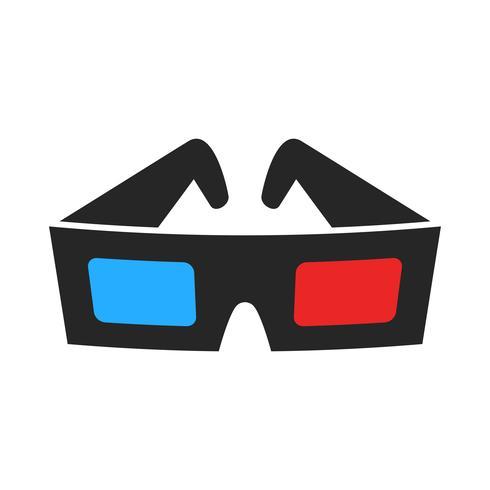 3D-filmglazen vector