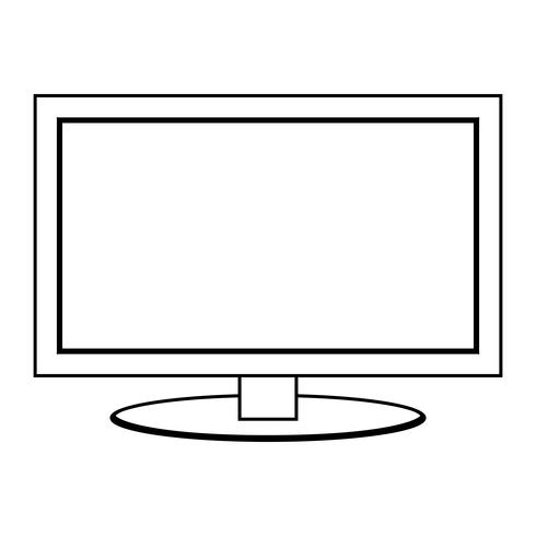 flatscreen vector pictogram