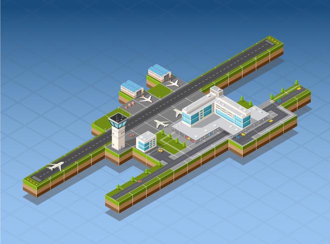 Luchthaventerminal vector