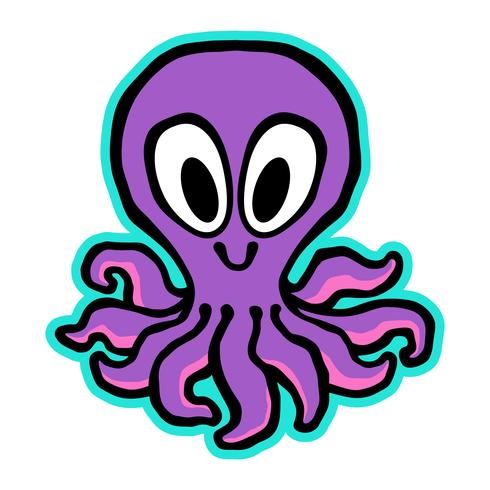 Cartoon Leuke Octopus illustratie vector