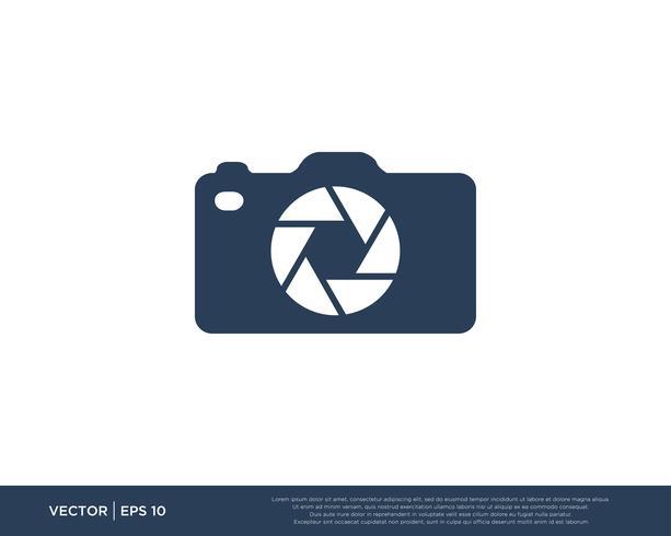 Camera sluiter Logo Icon Vector