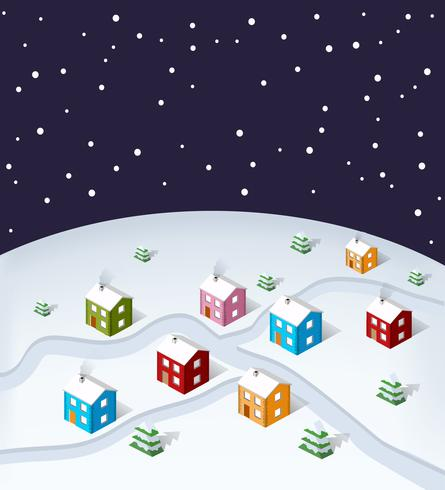 soms City Christmas vector