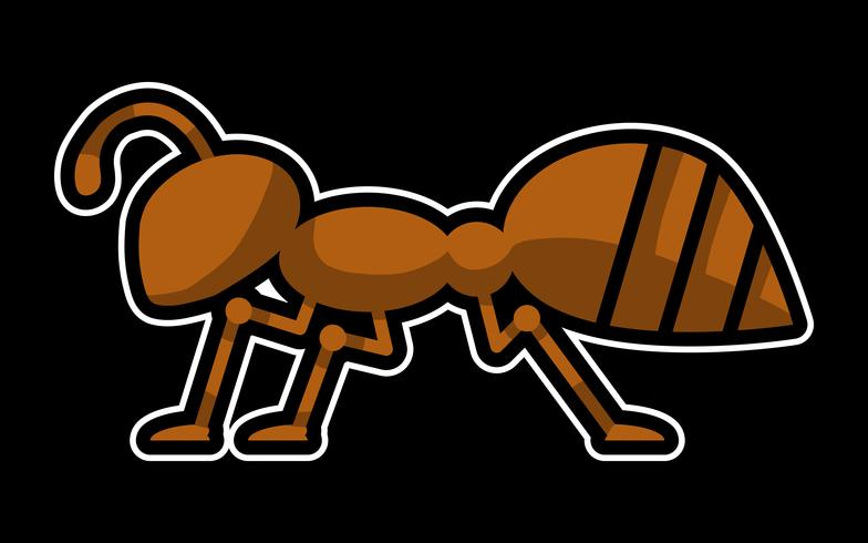 Cartoon mier insect bug vector