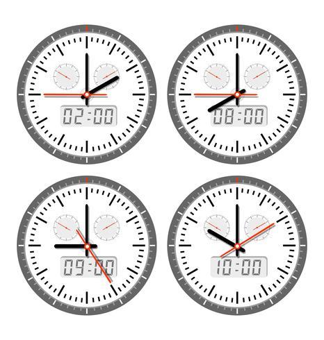 Bewegingen en horloges vector