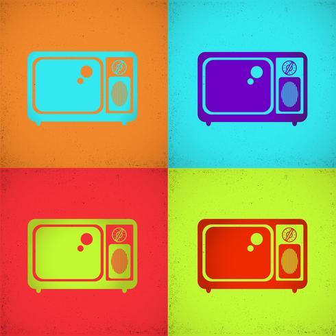 Tv-afbeelding vector