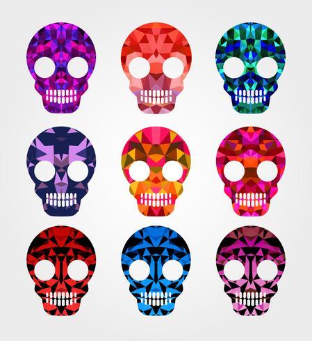 Set van schedels vector