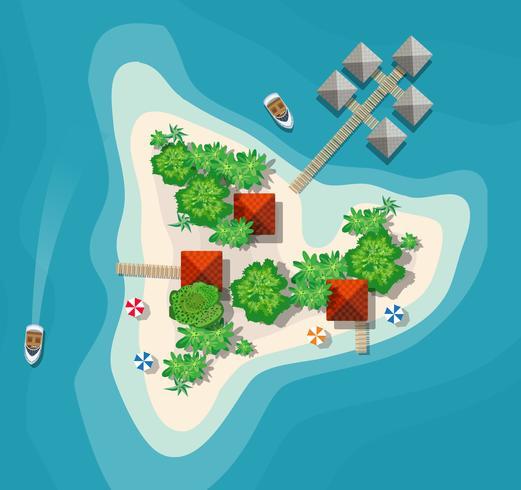 Uitzicht op het eilandparadijs vector
