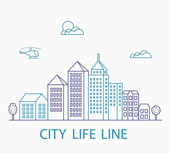 lineair stedelijk vector